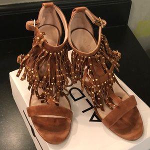 Caramel suede heels